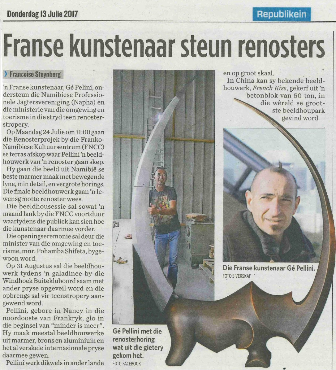 20170713 - Republikein - Franse kunstenaar steun renosters-page-001.jpg