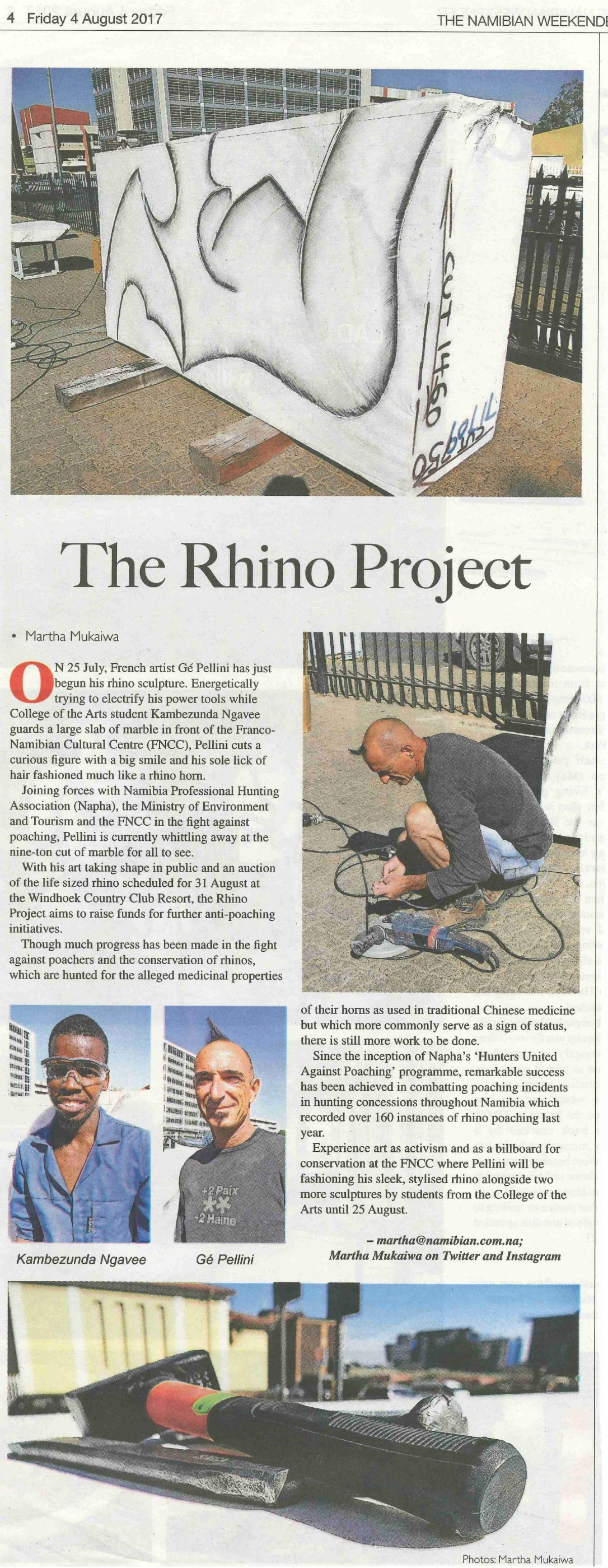 20170804 - The Namibian - The Rhino Project.jpg