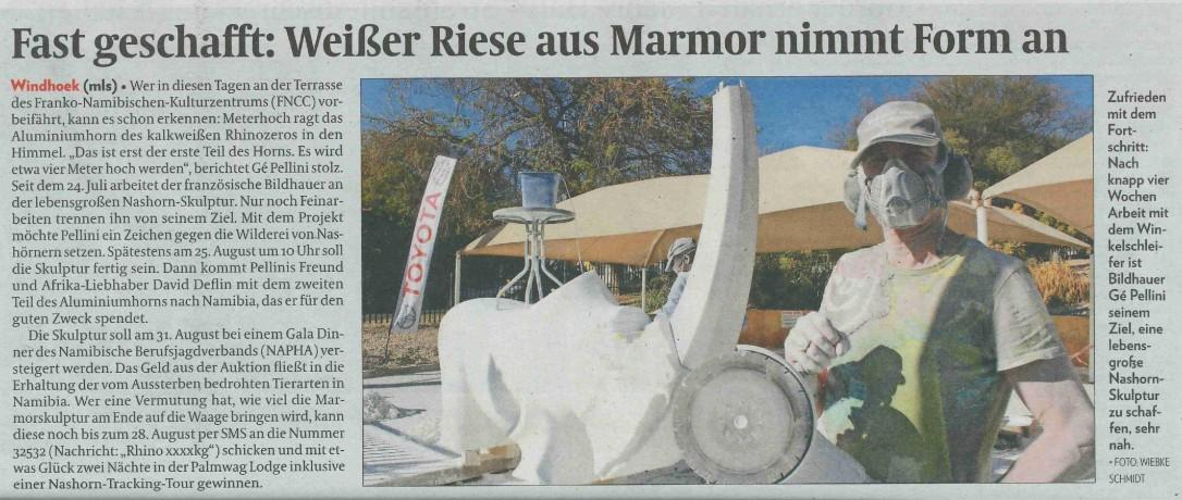 20170817 - AZ - Fast geschafft Weißer Riese aus Marmor nimmt Form an